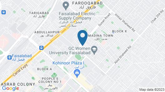 Raj One Hotel Map