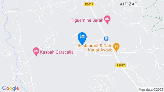 Les Orangers De L'Ourika Map