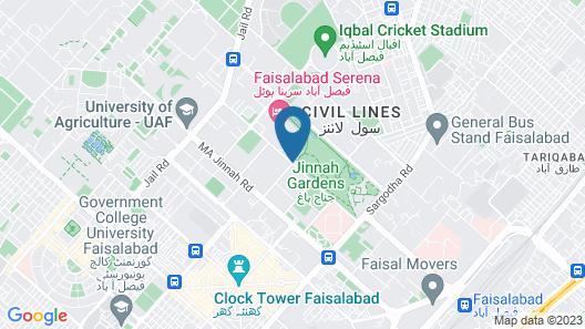 Faisalabad Serena Hotel Map