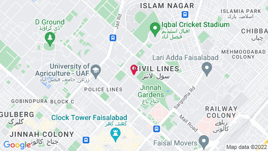 Serena Hotel Faisalabad Map