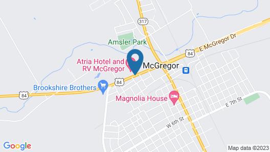 Atria Hotel and RV McGregor Map