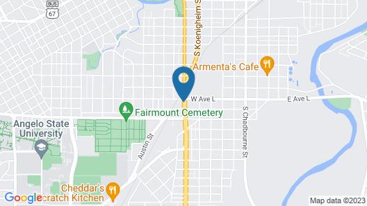 Studio 6 San Angelo, TX Map