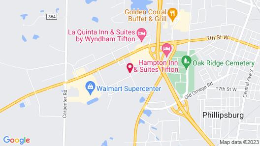 Hilton Garden Inn Tifton Map
