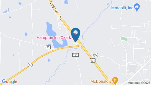 Hampton Inn Ozark Map