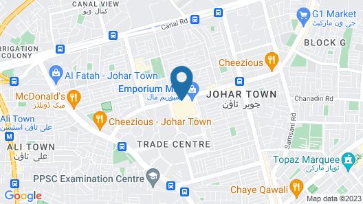 Nishat Hotel Johar Town Map