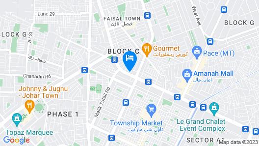 Mars Hotel Lahore Map