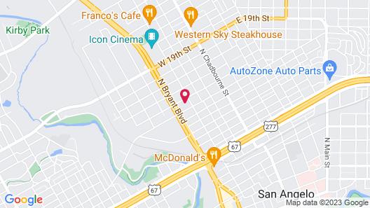 Best Western North Bryant Inn San Angelo Map