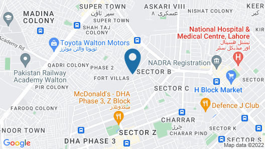 Lahore Guest House Map
