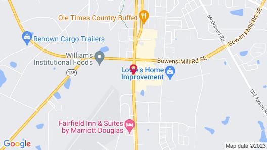 Hampton Inn Douglas Map