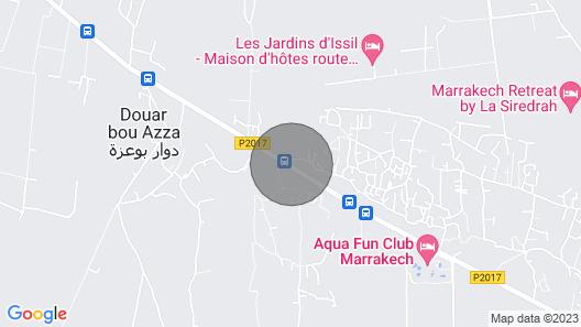Luxury Villa FOR Rental IN THE Jardins DE L'atlas Golf Resort IN Marrakech Map