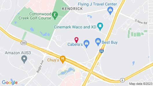 Hampton Inn & Suites Waco-South Map