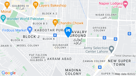 Express Hotel Lahore Map