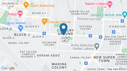 Lahore Continental Hotel Map
