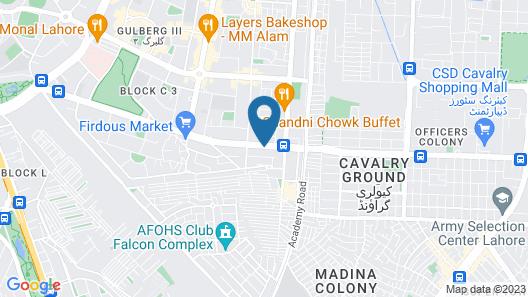 hotel marriodd Map