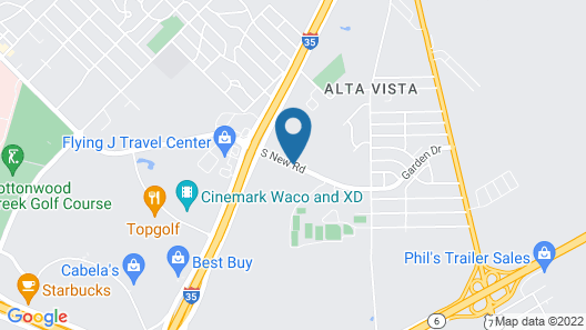 Candlewood Suites Waco Map