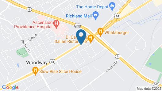Super 8 by Wyndham Waco/Mall area TX Map