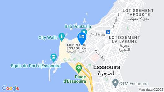 Essaouira Youth Hostel & Social Travel Map