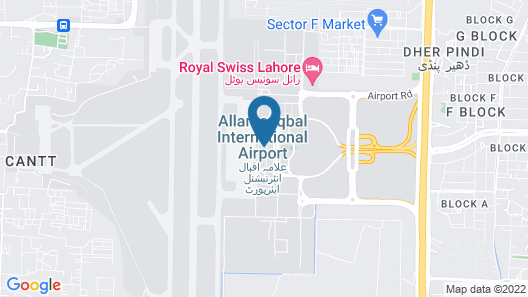 Royal Swiss Lahore Map
