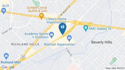 Americas Best Value Inn Waco Map