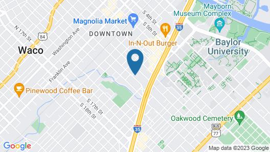 Aloft Waco Baylor Map