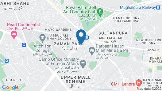 Hotel Crown Plaza Lahore Map