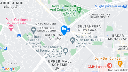 Hotel Crown Plaza-Lahore Map