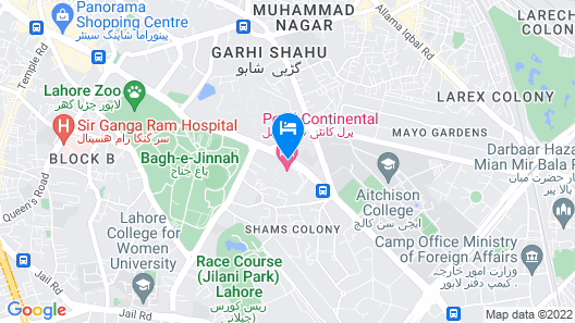 Pearl Continental Lahore Map
