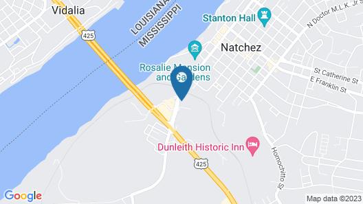 Hampton Inn & Suites Natchez Map