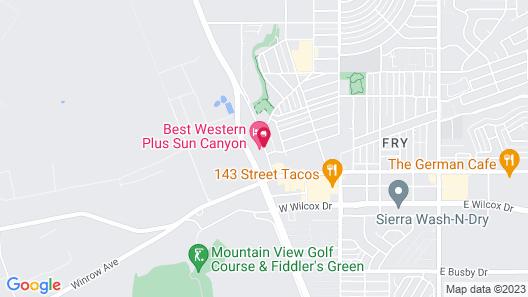 Best Western Plus Sun Canyon Map