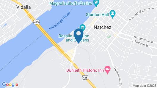 Magnolia Bluffs Casino Hotel, BW Premier Collection Map