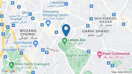Avari Lahore Map