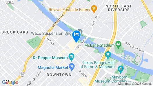 Hilton Waco Map