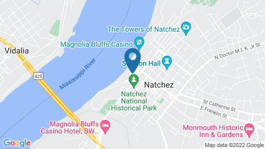 Natchez Grand Hotel & Suites On the River Map