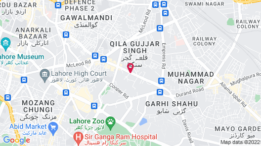 Hotel Marco Polo Lahore Map