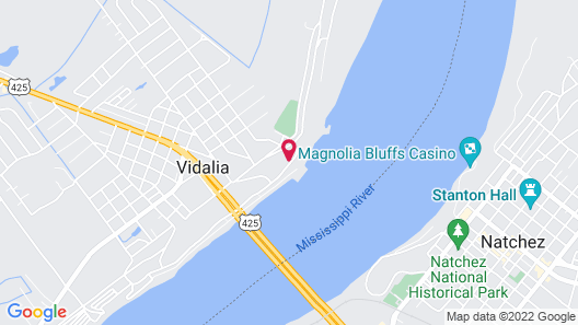 TownePlace Suites by Marriott Vidalia Riverfront Map