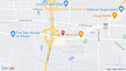 Motel 6 Albany, GA Map