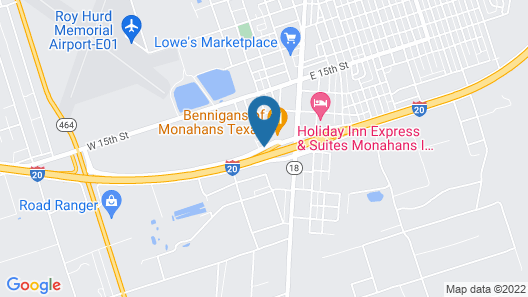Microtel Inn and Suites by Wyndham Monahans Map