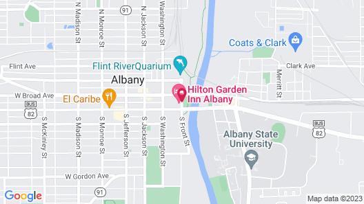 Hilton Garden Inn Albany Map