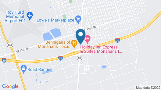 Candlewood Suites Monahans, an IHG Hotel Map