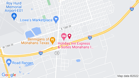 Holiday Inn Express Hotel & Suites Monahans - I-20 Map