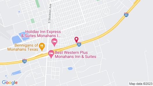 Motel 6 Monahans, TX Map