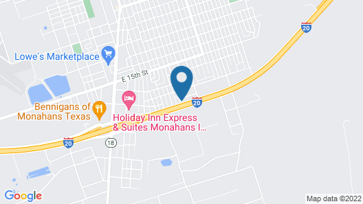Motel 6 Monahans, TX Map