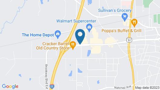 Motel 6 Brookhaven, MS Map