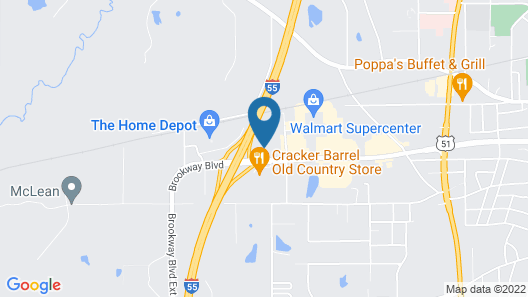 Holiday Inn Express Hotel & Suites Brookhaven, an IHG Hotel Map