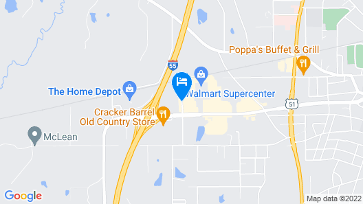 Americas Best Value Inn Brookhaven Map