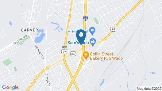 Comfort Suites Waco North - Near University Area Map