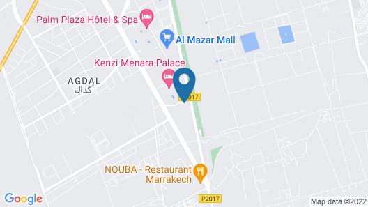 Zalagh Kasbah Hotel and Spa Map