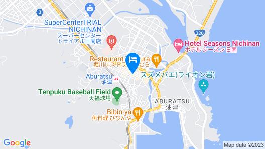 fan ABURATSU Sports Bar & Hostel Map