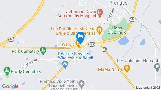 Jeffersonian Motor Inn Map