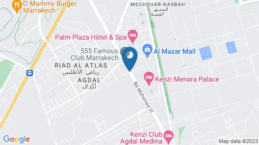 Kech Boutique Hotel & Spa Map